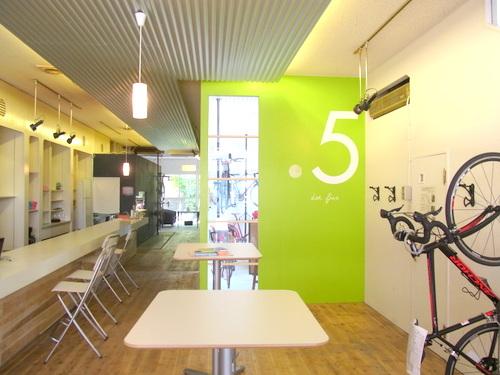 自転車好きの集まるカフェ .5 cafe
